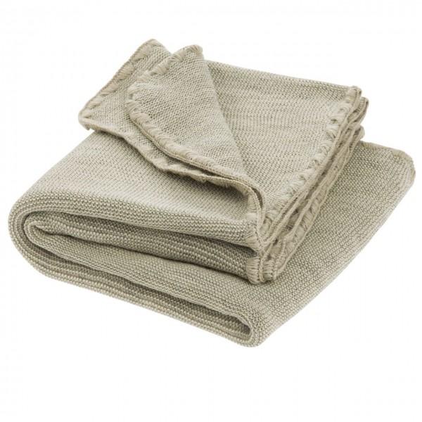 Babydecke Wolle Melange grau 80 x 100 cm