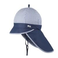 Sommer Schirmmütze Nackenschutz navy