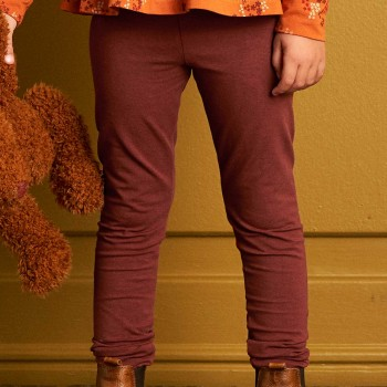 Leichte Leggings elastisch uni schokobraun