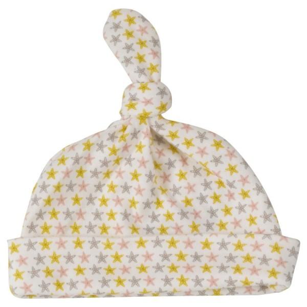 Babymütze mit Knoten Zipfelmütze - Seestern