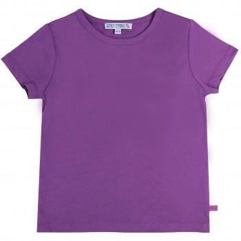 Lila Shirt kurzarm uni Basic