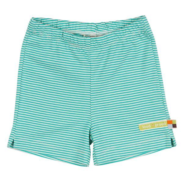 geringelte leichte Unisex Shorts grün