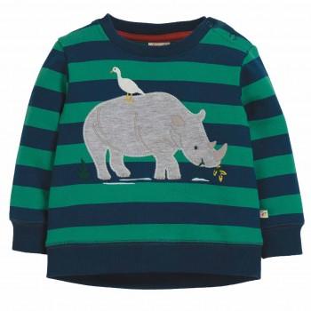Pullover mit Nashorn Aufnäher