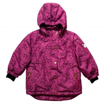 Warme Winterjacke in pink-violet