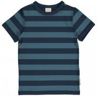 Navy-blau Ringel Shirt kurzarm