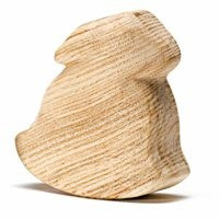 Holzfigur Schaukelhase unbehandelt Kleinkinder 7 cm hoch