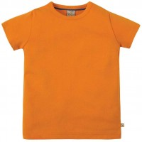 T-Shirt uni hochwertig in orange