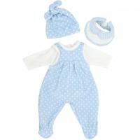"""Baby Puppenkleidung Set 4-tlg. """"Pünktchen blau"""""""