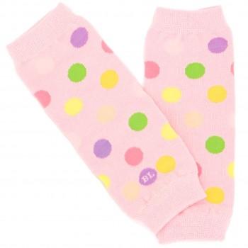 Arm- & Beinstulpen auch für Babytragen Punkte rosa