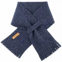 Steckschal Wolle 70 cm ca. 1-3 Jahre jeans-blau