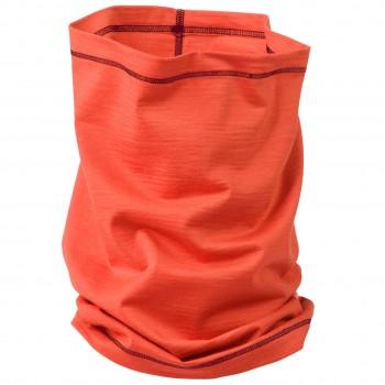 Schlauchschal 2in1 Unisex Wolle Seide orange