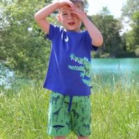 Jungen Shorts Safari Tiere grün