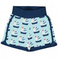 Leichte Jersey Shorts Segelboote in hellblau