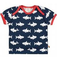 Kurzarm Shirt Haie dunkelblau
