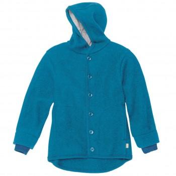Walk-Jacke mit Knopfleiste in blau