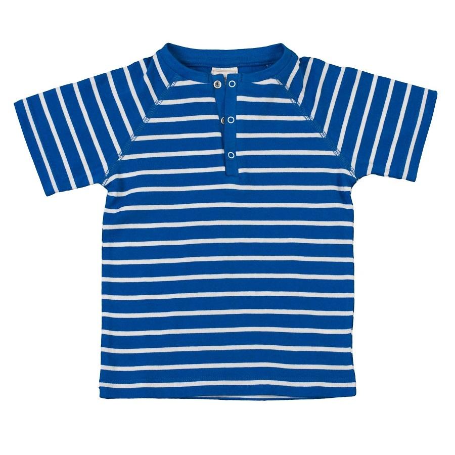 3b5c23546f36 Jungen T-Shirt blau weiß Druckknpf   greenstories