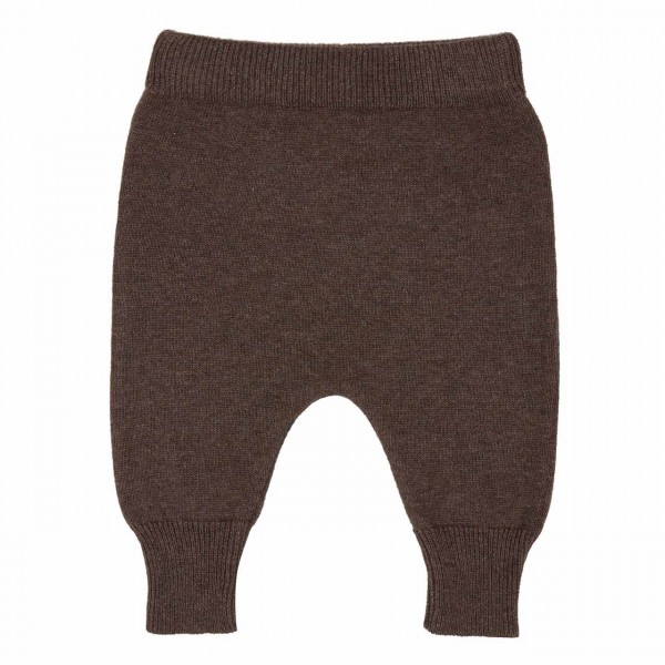 Baby Strickhose Wolle braun