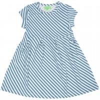 Schlicht elegant Kleid Streifen blau