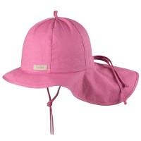 Verstellbare Sommermütze mit Nackenschutz rosa