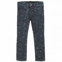Jungen Dino Jeans Print blau