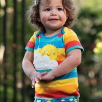Baby Shirt kurzarm Aufnäher Sonne