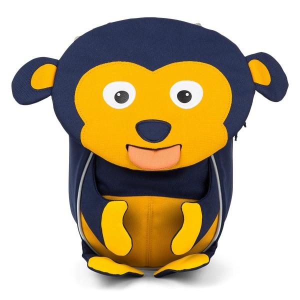 Ergonomischer Kita Rucksack 1-3 Jahre Affe blau