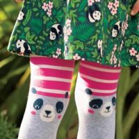 Panda Strumpfhose Streifen in pink