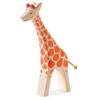 Giraffe laufend Holzfigur 20,5 cm hoch