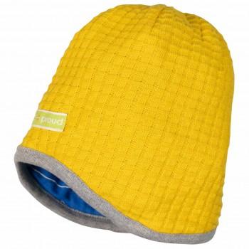 Wendemütze Strick Pinguine und Robben gelb