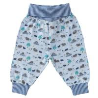 Babyhose Maulwurf-Druck blau