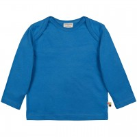 Leichtes Uni Shirt langarm Basic in blau