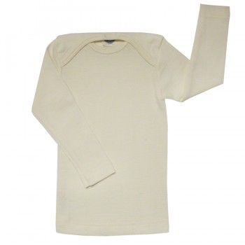 Atmungsaktives Wolle Seide Shirt ungefärbt