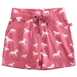 Altrosa Mädchen Bio Shorts mit Pferdedruck