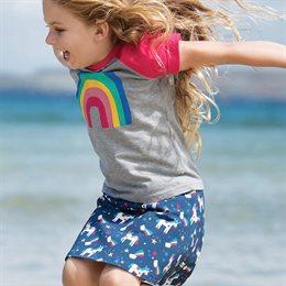 Leichtes Mädchen T-Shirt Regenbogen