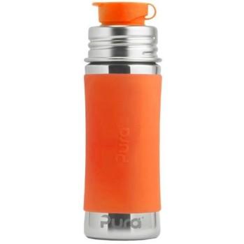 Edelstahl Sportflasche Sportverschluss 325 ml orange