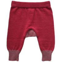 Baby Strickhose Wolle Biobaumwolle rot