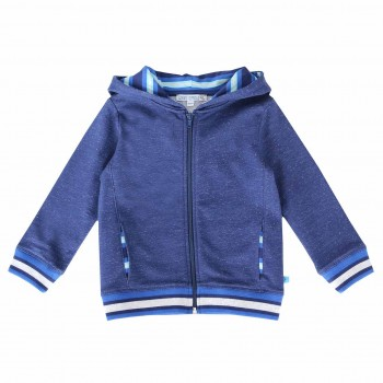 Sweatjacke Zipper in dunkelblau