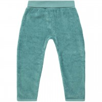Warme Babyhose Velour in petrol