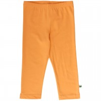 Basic Leggings knielang in hellem orange