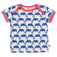 Mädchen T-Shirt Delfine pacific