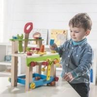 Werkbank Kinder klein mit Zubehör