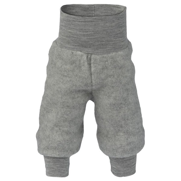 Woll Fleece Hose Softbund hellgrau