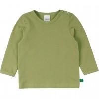 Dehnbares Basic Langarmshirt in moosgrün