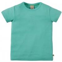 T-Shirt uni hochwertig in leichtem türkis