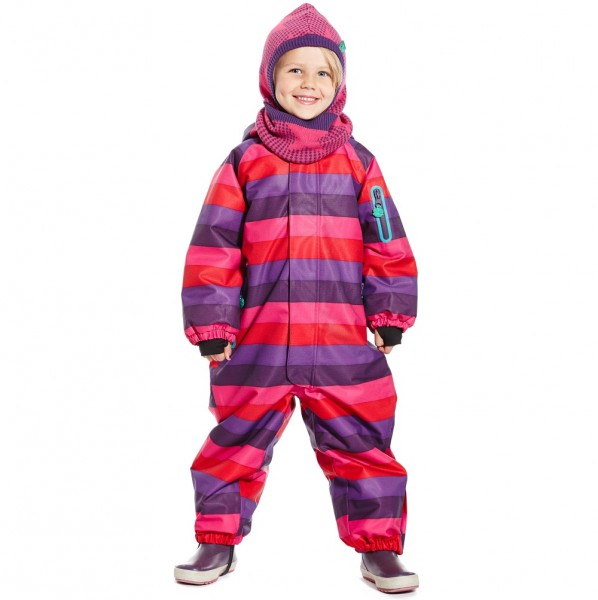 Robuster Schneeoverall - super für Waldkindergarten - stripe