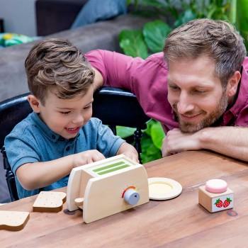 Frühstück Spielzeug mit Kinder Toaster