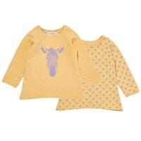 Bio Wendeshirt für Babys & Kinder - einfach praktisch - gelb