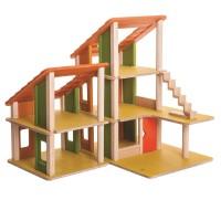 Vorschau: Ökologisches, Flexibles Puppenhaus, komplett möbliert