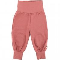 Mitwachsende Hose mit breiten Bündchen - kräftiges Altrosa
