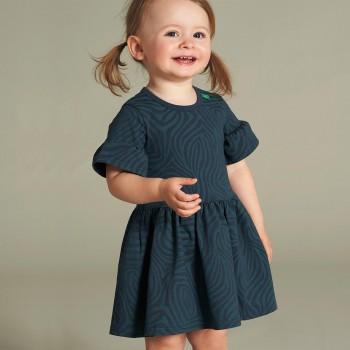 Edles Mädchenkleid Safari-Muster Rüschen